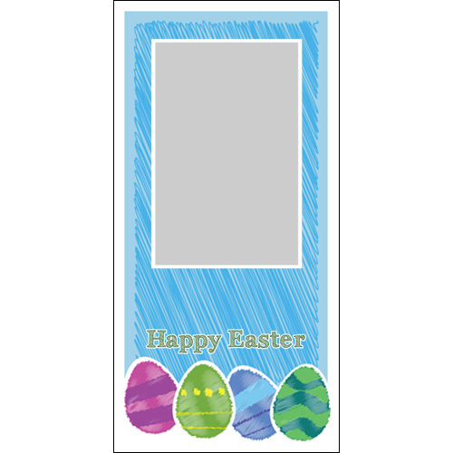 Easter Scribble Blue P