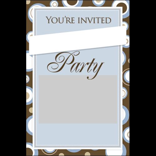 Party Invitation Dots P