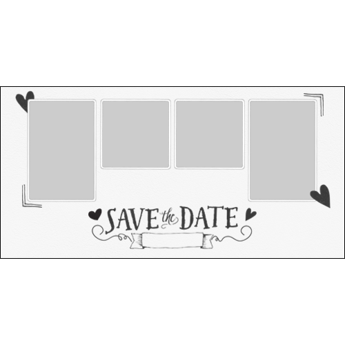 Save the Date Grey L