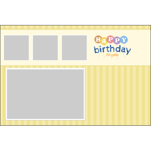Birthday Balloons Yellow
