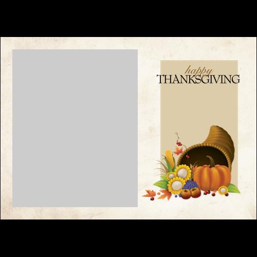 5x7 Thanksgiving Cornucopia L