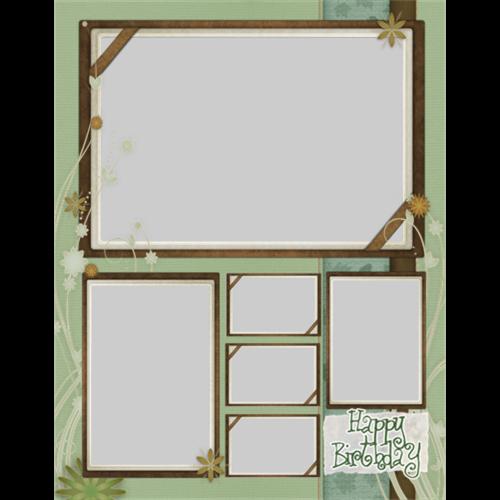 11x14 Birthday Green Scrapbook P