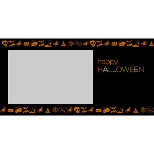 4x8 Happy Halloween Simple L