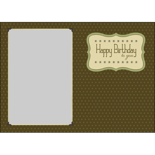 Happy Birthday Elegant  Brown