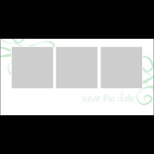 Save the Date White Swirl L