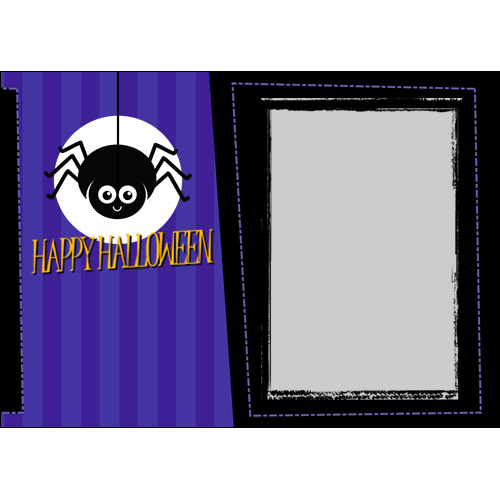 5x7 Happy Halloween Spider L