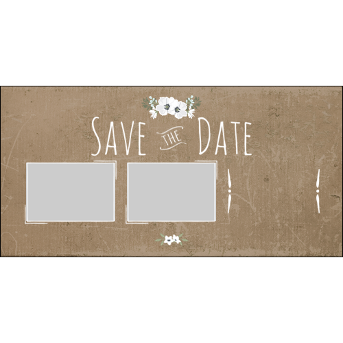Save the Date Brown Flowers L