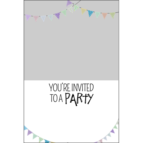 Party Invitation Flag P