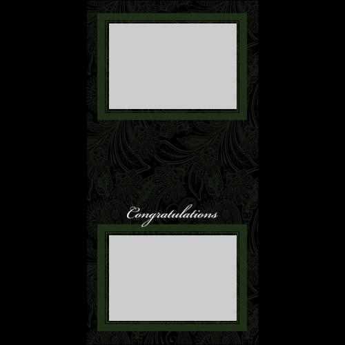 4x8 Congrats Green P