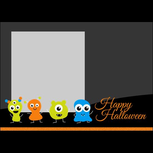 5x7 Happy Halloween Little Monsters L