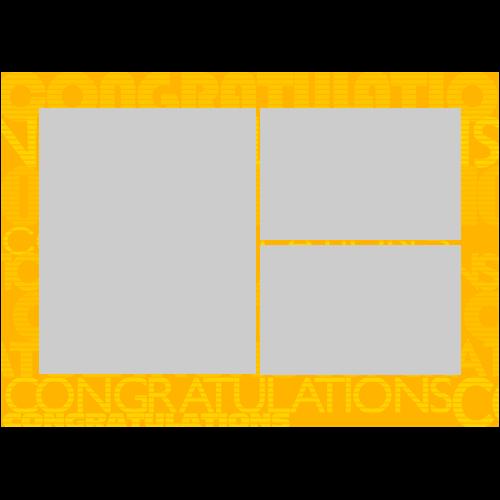 5x7 Congrats Words L