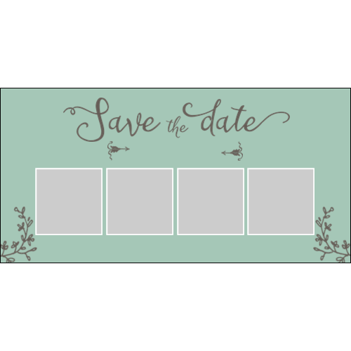 Save the Date Green Brown L