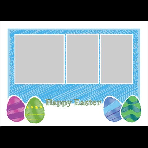 Easter Scribble Blue L